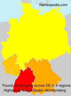 Familiennamen Morgana - Germany