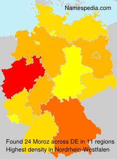 Surname Moroz in Germany