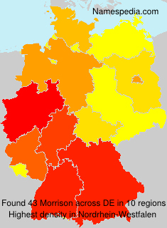 Surname Morrison in Germany