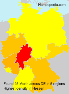 Surname Morth in Germany