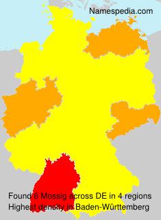 Familiennamen Mossig - Germany