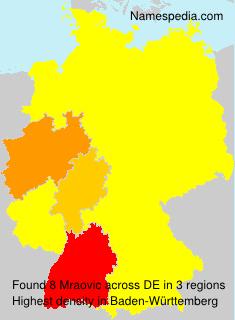 Surname Mraovic in Germany
