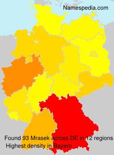 Surname Mrasek in Germany