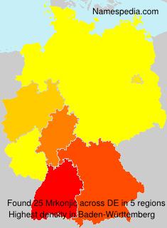 Surname Mrkonjic in Germany
