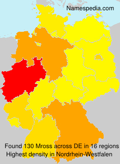 Surname Mross in Germany