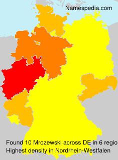 Familiennamen Mrozewski - Germany