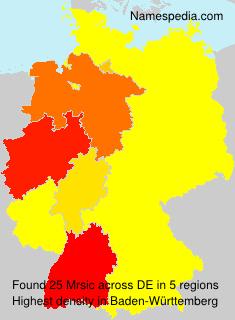Familiennamen Mrsic - Germany