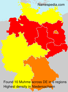 Familiennamen Muhme - Germany