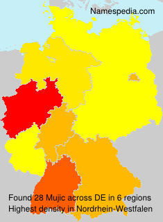 Familiennamen Mujic - Germany