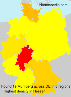 Surname Mumberg in Germany