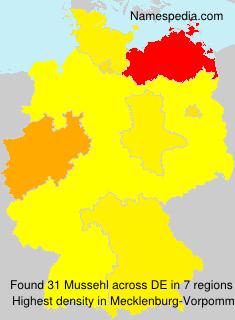 Surname Mussehl in Germany