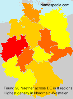 Familiennamen Naether - Germany