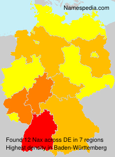 Surname Nax in Germany