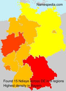 Familiennamen Ndiaye - Germany