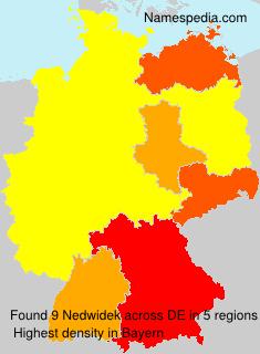 Familiennamen Nedwidek - Germany