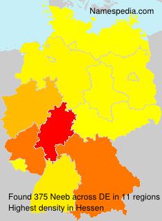 Familiennamen Neeb - Germany