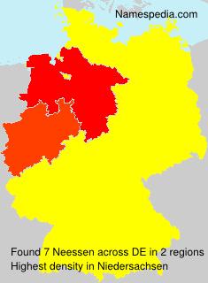 Familiennamen Neessen - Germany