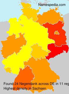 Familiennamen Negendank - Germany