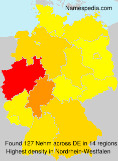 Surname Nehm in Germany