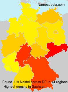 Surname Neidel in Germany