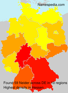Surname Neider in Germany
