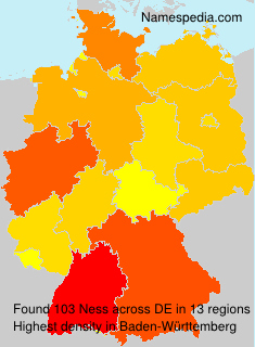 Surname Ness in Germany