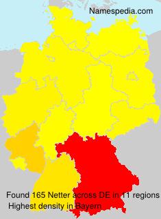 Familiennamen Netter - Germany