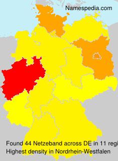 Surname Netzeband in Germany