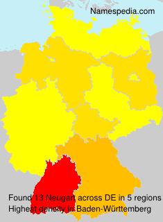 Surname Neugart in Germany