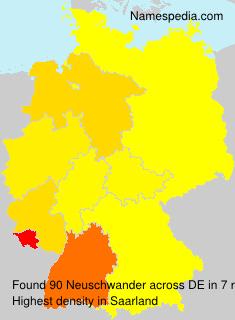 Familiennamen Neuschwander - Germany