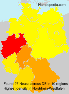 Surname Neuss in Germany