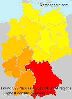 Surname Nicklas in Germany