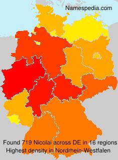Surname Nicolai in Germany