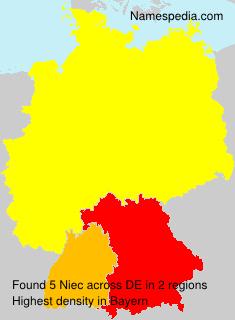 Familiennamen Niec - Germany