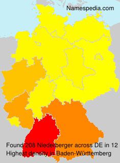 Familiennamen Niederberger - Germany