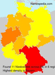 Surname Niedostatek in Germany
