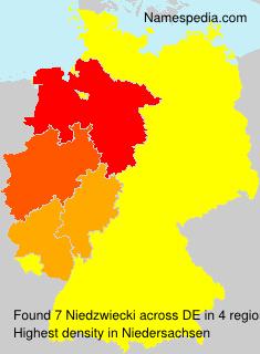 Surname Niedzwiecki in Germany