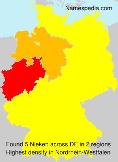 Familiennamen Nieken - Germany