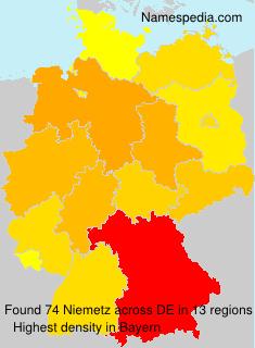Surname Niemetz in Germany
