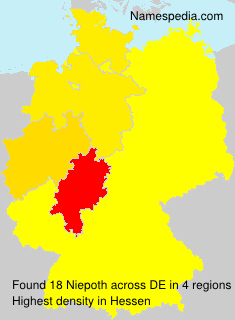 Surname Niepoth in Germany