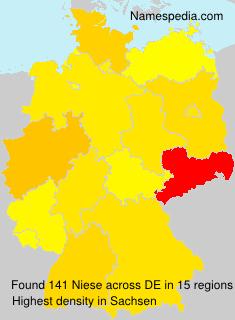 Familiennamen Niese - Germany