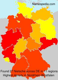 Surname Nietsche in Germany