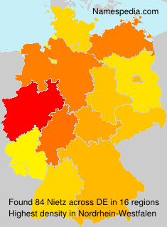 Surname Nietz in Germany