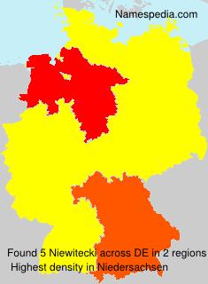 Surname Niewitecki in Germany