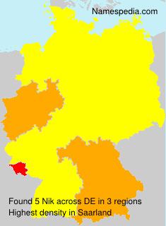 Surname Nik in Germany