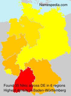 Surname Nikic in Germany