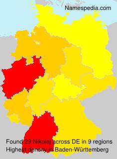 Surname Nikolaj in Germany