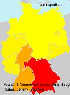 Familiennamen Nimmrichter - Germany