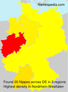 Surname Nippes in Germany