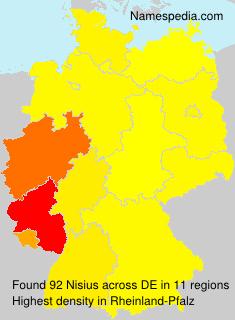 Surname Nisius in Germany